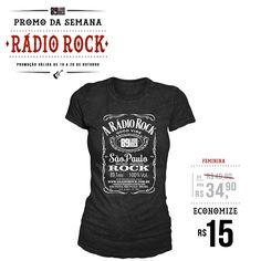 PROMO DA SEMANA - Camiseta Feminina 89FM A Rádio Rock Por R$ 34,90