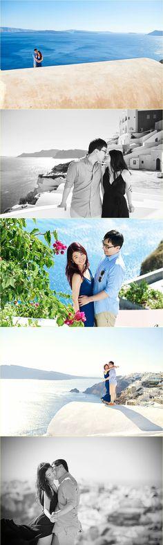 Chen Vivier honeymoon in Santorini by Giota Zoumpou PhotostudioGT Santorini, Photo Sessions, Chen, Santorini Caldera