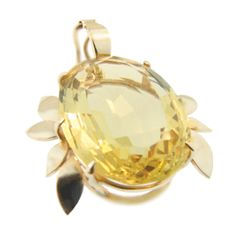 9ct Yellow Gold & Golden Citrine Pendant. Handmade by Peter Cameron at Cameron Jewellery