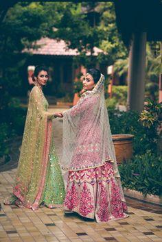 Real Indian Wedding - Shreya and Deep | WedMeGood | Beautiful Bride Shreya in a Pink and Cream Thread Work Heavy Anarkali Suit with a Net Jaal Dupatta Photo Courtesy: Lights Camera Shaadi #wedmegood #realwedding #pink #bridal
