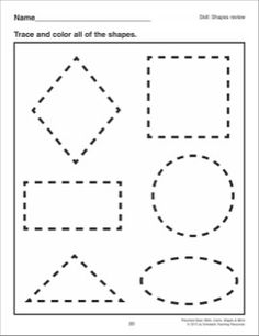 Shapes Review: Preschool Basic Skills (Shapes)