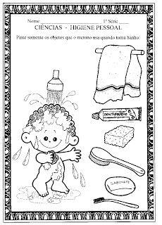Canto da Tia Quel: Atividades para 1º e 2º ano sobre Higiene e Saúde