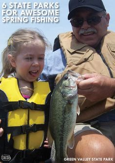6 Iowa State Parks for Awesome Spring Fishing - includes Green Valley! Fishing Maps, Kayak Fishing, Pretty Fish, Beautiful Fish, Iowa State, State Parks, Destin Fishing, Largemouth Bass, Fishing Girls