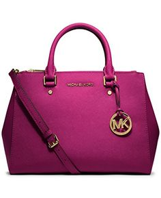Go from deskside to dinner with this sophisticated Saffiano leather satchel  by #MICHAEL Michael Kors