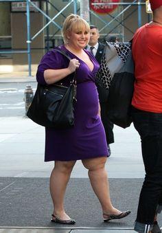 Rebel Wilson leaves her hotel in New York. (October 1, 2013)