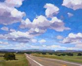 Timothy Horn   Good example of making clouds appear to be 3D forms, as well as how to create a sense of depth with clouds receding into the distance.