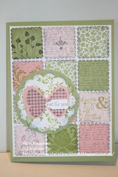 This is a nice way to use scraps ...