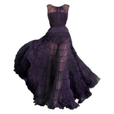 Cool Dresses ❤ liked on Polyvore featuring dresses, gowns, vestidos, long dresses, purple ball gown, long purple dress, purple evening dresses, purple gown and purple dress