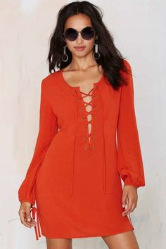 Pin for Later: All Laced Up: Autumn's Alternative to the Plunging Neckline Nasty Gal After Party Vintage Tie the Knot Dress Nasty Gal After Party Vintage Tie the Knot Dress (£69)