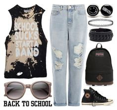 """""""School Sucks"""" by meaganmuffins ❤ liked on Polyvore"""