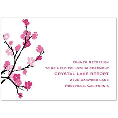 The pretty flowers on this reception card are printed in shades of the same imprint color you choose for your main wording color. Wedding Reception Cards, Wedding Invitations, Lake Resort, Pretty Flowers, Card Sizes, Bridal Shower, Beauty, Color, Shower Party