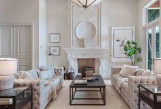 Restoration hardware inspired living room decor with soho sofaBeautiful luxury living room decor with restoration hardware style furniture
