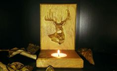 Beautifully Crafted Solid Oak Engraved Tea Light Holder from Bramble Signs