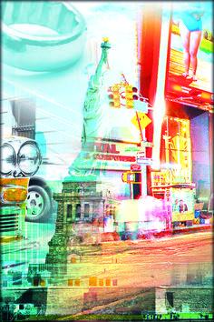Digital Art by Targa Team Times Square, Digital Art, Travel, Viajes, Destinations, Traveling, Trips