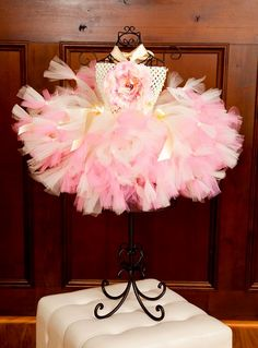 Silk Garden Blooming Pink & Ivory Baby Crochet Tutu Petutti Dress - 3146