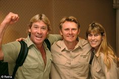 theboardwalkbody:    Steve Irwin, Wes Mannion, and Terri Irwin.