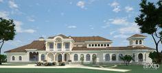Испанская вилла: архитектура, 2 эт   6м, средиземноморский, жилье, 500 - 1000 м2, фасад - кирпич, коттедж, особняк #architecture #2fl_6m #mediterranean #housing #500_1000m2 #facade_brick #cottage #mansion arXip.com