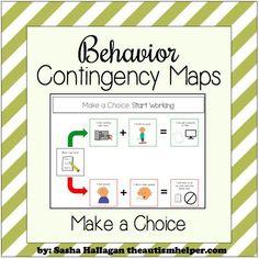 Explain the Intervention {Behavior Contingency Maps} - The Autism Helper Classroom Behavior, Autism Classroom, Classroom Ideas, Kindergarten Behavior, Inclusion Classroom, Classroom Design, Coping Skills, Social Skills, Behavior Plans