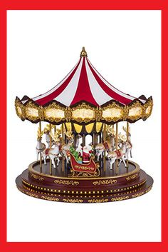 Mr. Christmas 19699 Deluxe Christmas Carousel Holiday Decoration One Size Multi Mr Christmas, Gift Store, Carousel, Holiday Decor, Gifts, Jewelry, Favors, Jewels, Schmuck