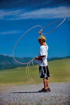 Family Kid Roping Paws Up