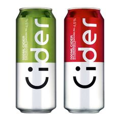 """clever packaging for Cider, a Swedish brew. Look carefully and you'll see the emoticon and the sideway """"Cider"""" - Nice! (via thedieline) Design Typo, Label Design, Typography Design, Logo Design, Graphic Design, Package Design, Design Agency, Print Design, Clever Packaging"""