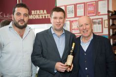 "Our President with Mr. Adrian Cummins and Mr. Guido Fini Zarri at ""Italian Food&Wine Fair"" in Dublin!"