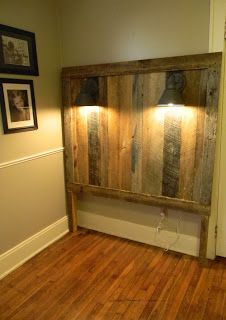 Pallet Projects - Tall Headboard Made From Pallet Wood