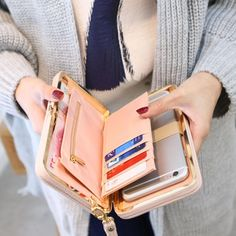 Free Shipping Brand Name: Dream mShining Item Type: Wallet Matrial: PU Leather Lining material: Poleyster Height: 2.6cm Weight:300g Width:10cm Length: 17cm