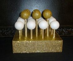 gold foil cake pop stand lollipop holder by aprincesspractically