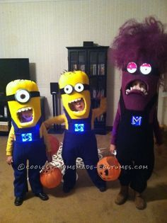 Three-of-a-Kind Minion Siblings Halloween Costumes ... This website is the Pinterest of costumes