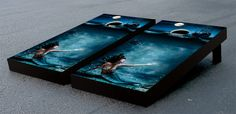 Mermaid Pirate Cornhole Game Set