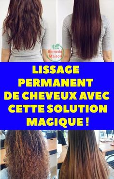 Permanent hair smoothing with this magic solution!