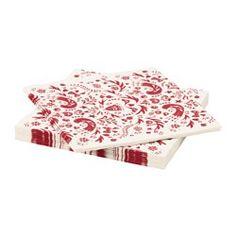 VINTER 2016 tovalló de paper, blanc, vermell. Llargària: 33 cm. Ample: 33 cm. Unitats: 30 unitats