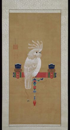 Cockatoo      Ômu zu     鸚鵡図      Japanese, Edo period, Itô Jakuchû,  1716–1800