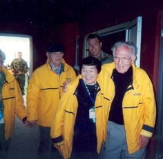 Ronald Speirs, Grace Nixon (widow of Lewis Nixon) and Dick Winters.