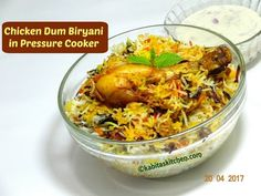 In this video I have shown process of How to make Chicken Dum Biryani in Pressure Cooker. This method shown muslim style chicken biryani, this video show eas. Indian Chicken Recipes, Onion Recipes, Rice Recipes, Indian Food Recipes, Savoury Rice Recipe, Savory Rice, Bhaji Recipe, Biryani Recipe, Recipe Master