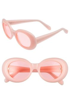 ACNE STUDIOS Mustang 47mm Oval Sunglasses. #acnestudios #