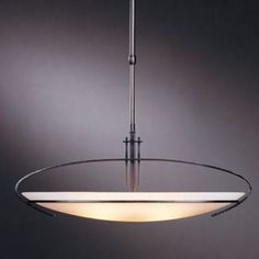 Hubbardton Forge Mackintosh Oval 2 Light Inverted Pendant Finish: Translucent Burnished Steel, Shade Size / Stem Length: Medium / 46 to 64