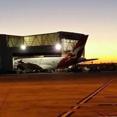Qantas in the hangar Sydney Airport Drones, Qantas A380, Airplanes, Opera House, Sydney, Aircraft, Building, Travel, Planes