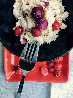 Cranberry and mushroom risotto in bread maker - sourdoughmovement.com Mushroom Risotto, Food Challenge, Bread Baking, Acai Bowl, Great Recipes, Stuffed Mushrooms, Cooking, Breakfast, Board