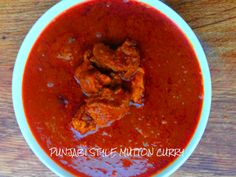 Recipe – PUNJABI STYLE MUTTON CURRY This mutton curry comes from the heart of Punjab which makes one drool and head straight to the kitchen. A simple and easy curry with aromatic spices and great flavour.  I make this curry very often and it is one of my family favourites. A dish for all meat-lovers with an appetizing aroma which is irresistable. The most popular, delicious punjabi style mutton curry goes well with rice, naan or rotis and would surely make you go 'Balle Balle….'