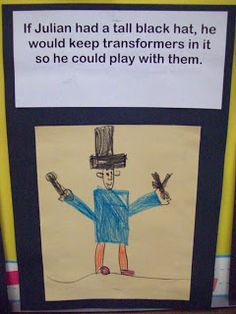 President's Day writing and drawing activity for Pre-K or #Kindergarten.  What would you put in your hat?
