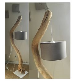 A Driftwood Floor Lamp easy to perform and that is unusual. To acquire an iron base with a rod at low cost and customized, you can go to the blacksmith near you. It depends on your driftwood. If it is a light and small diameter, stand timber cut rectangle is enough. #diylighting #driftwood #farmhousedecor #floorlamp #handmadelighting #hugelighting #lamp #lampshade #lightfixture #lighting #lightingdesign #rusticlighting #woodlamp #woodworking