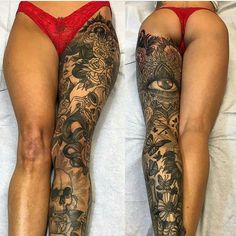 Wow. @josephhaefstattooer why you live so far away?  This ginormous leg piece is amazing!!!!
