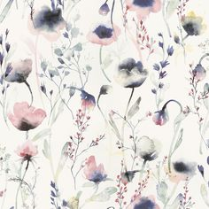 Lo Multi is a water coloured wallpaper in pinks and blues. Welcome to Sandberg Wallpaper.