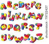 full cartoon alphabet . vector...