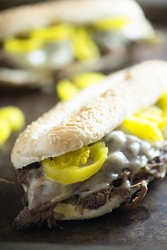 We love this simple slow cooker recipe for Italian beef sandwiches. Just a…