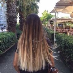 Black to Blonde Balayage Straight Hair