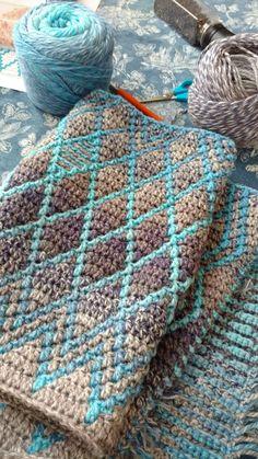 Crochet Bedspread, Crochet Quilt, Tapestry Crochet, Crochet Home, Diy Crochet, Crochet Crafts, Yarn Crafts, Crochet Baby, Crochet Projects