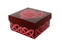 Aqua Lavender Flowers Jewelry Gift Box Hand by annarobertsart